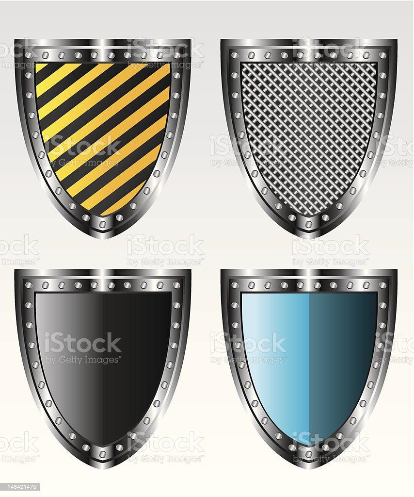 Shields set  illustration royalty-free stock vector art