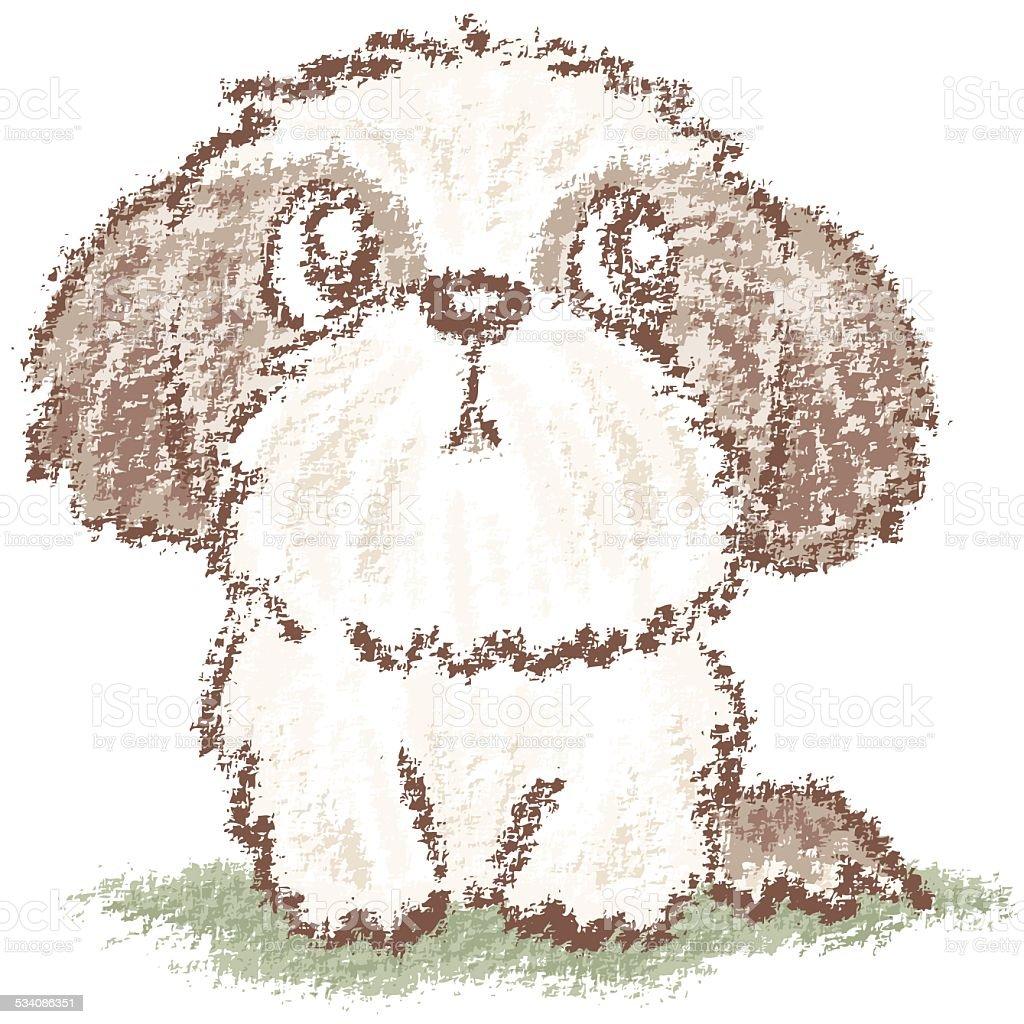 Shih Tzu Puppy Stock Illustration Download Image Now Istock
