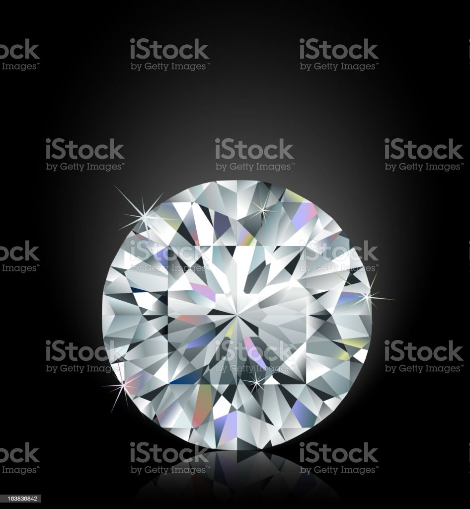 Shimmering diamond royalty-free shimmering diamond stock vector art & more images of black color