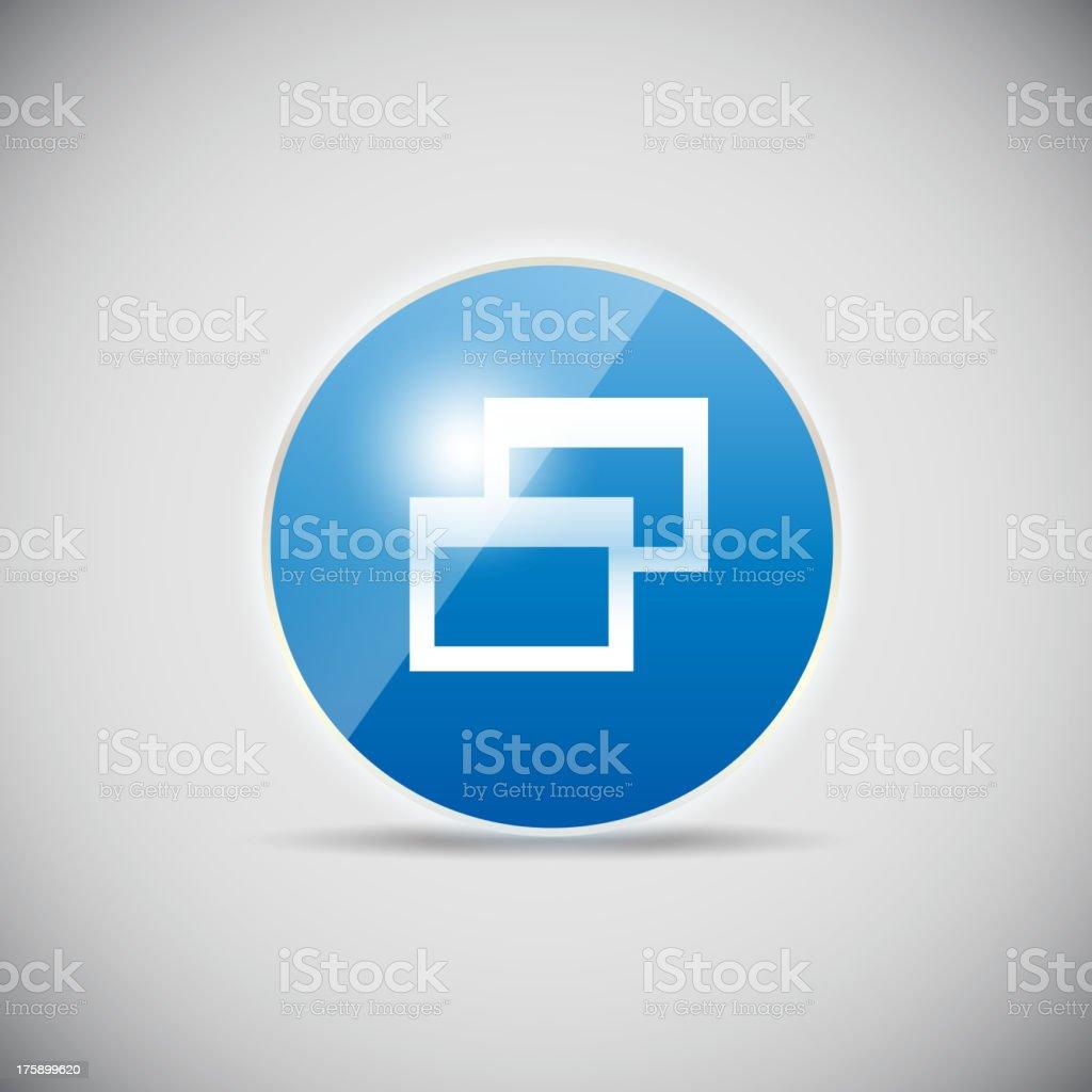Shine glossy computer icon vector illustration royalty-free stock vector art