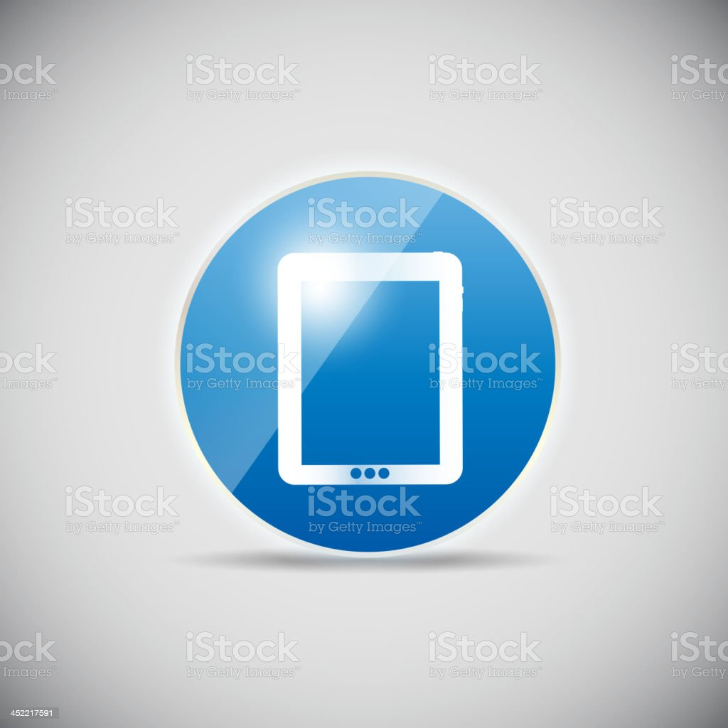Shine glossy computer icon vector illustration royalty-free stock vector art