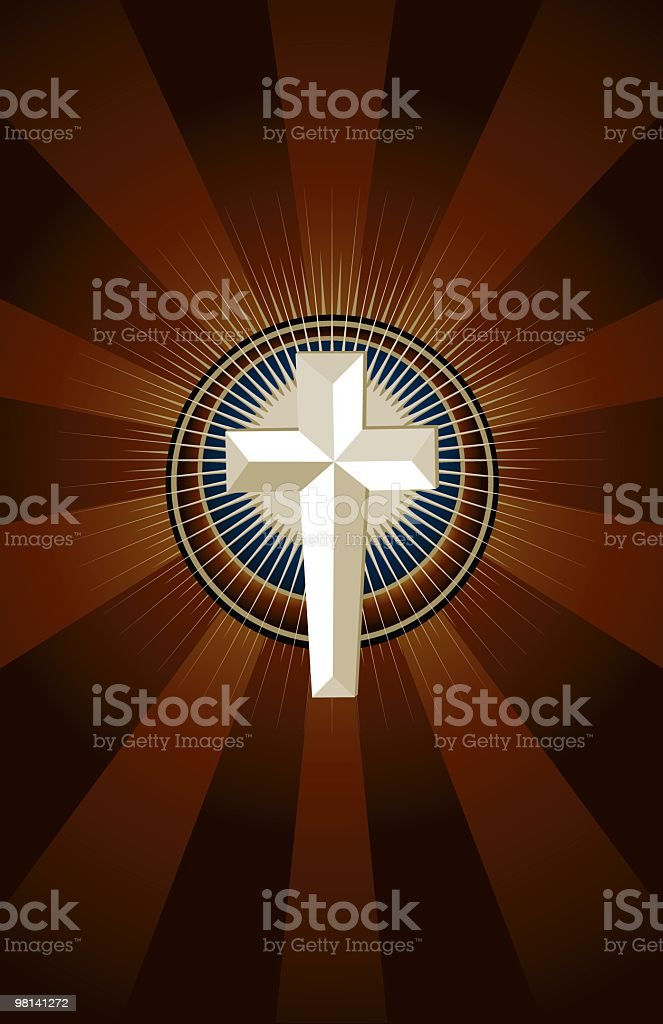 Shining Cross royalty-free shining cross stock vector art & more images of christianity