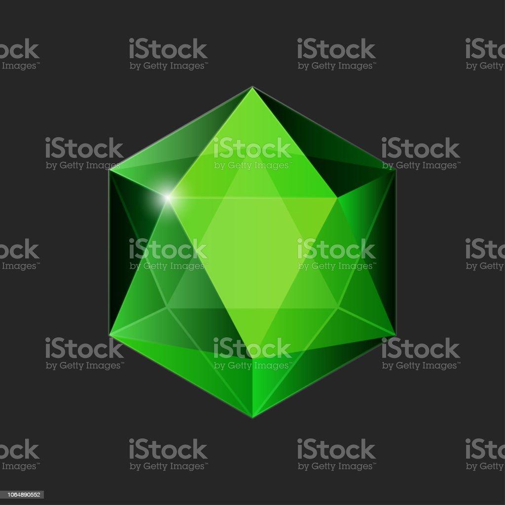 brillante cristal, tallada de piedra - ilustración de arte vectorial