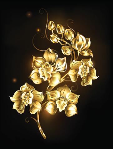 Brillante oro orquídea