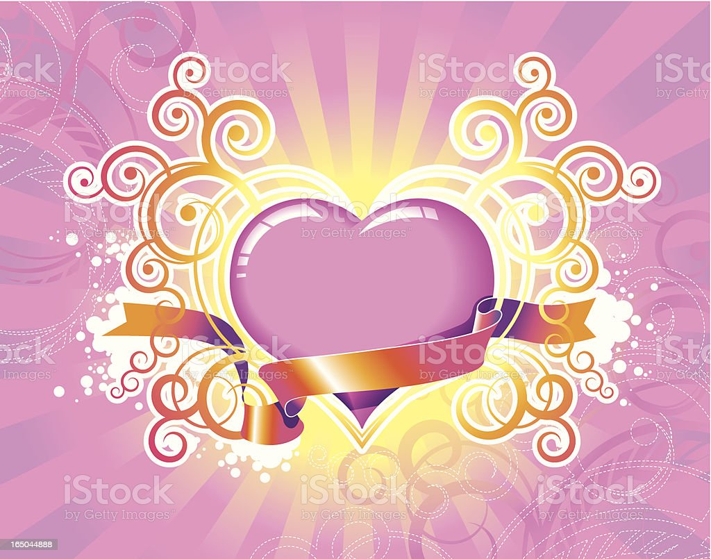 Shining Heart. Valentine's Day. royalty-free shining heart valentines day stock vector art & more images of adolescence