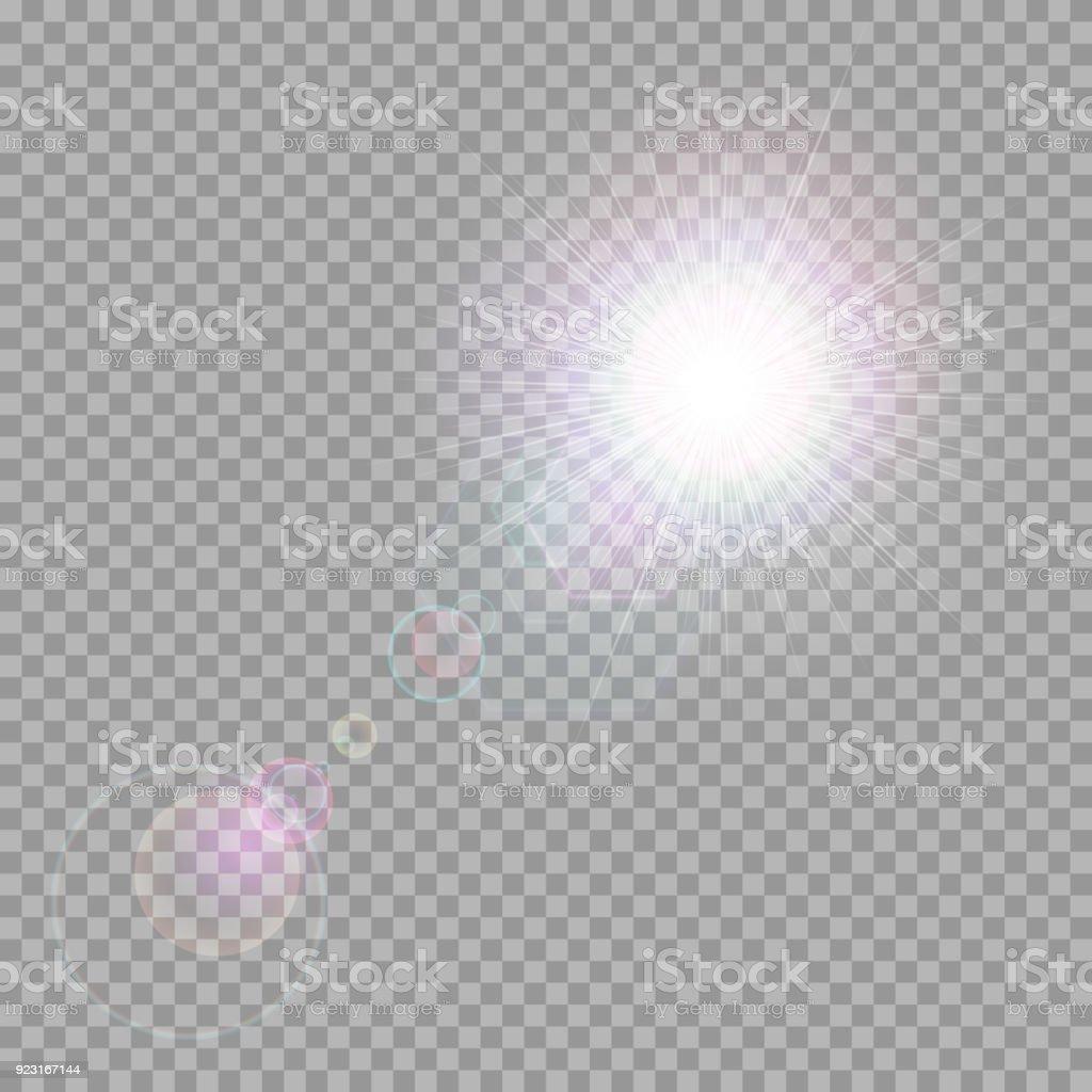 Shining Light Beams vector art illustration