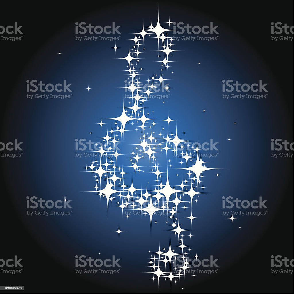 Shining Musical Note 2 royalty-free shining musical note 2 stock vector art & more images of abstract