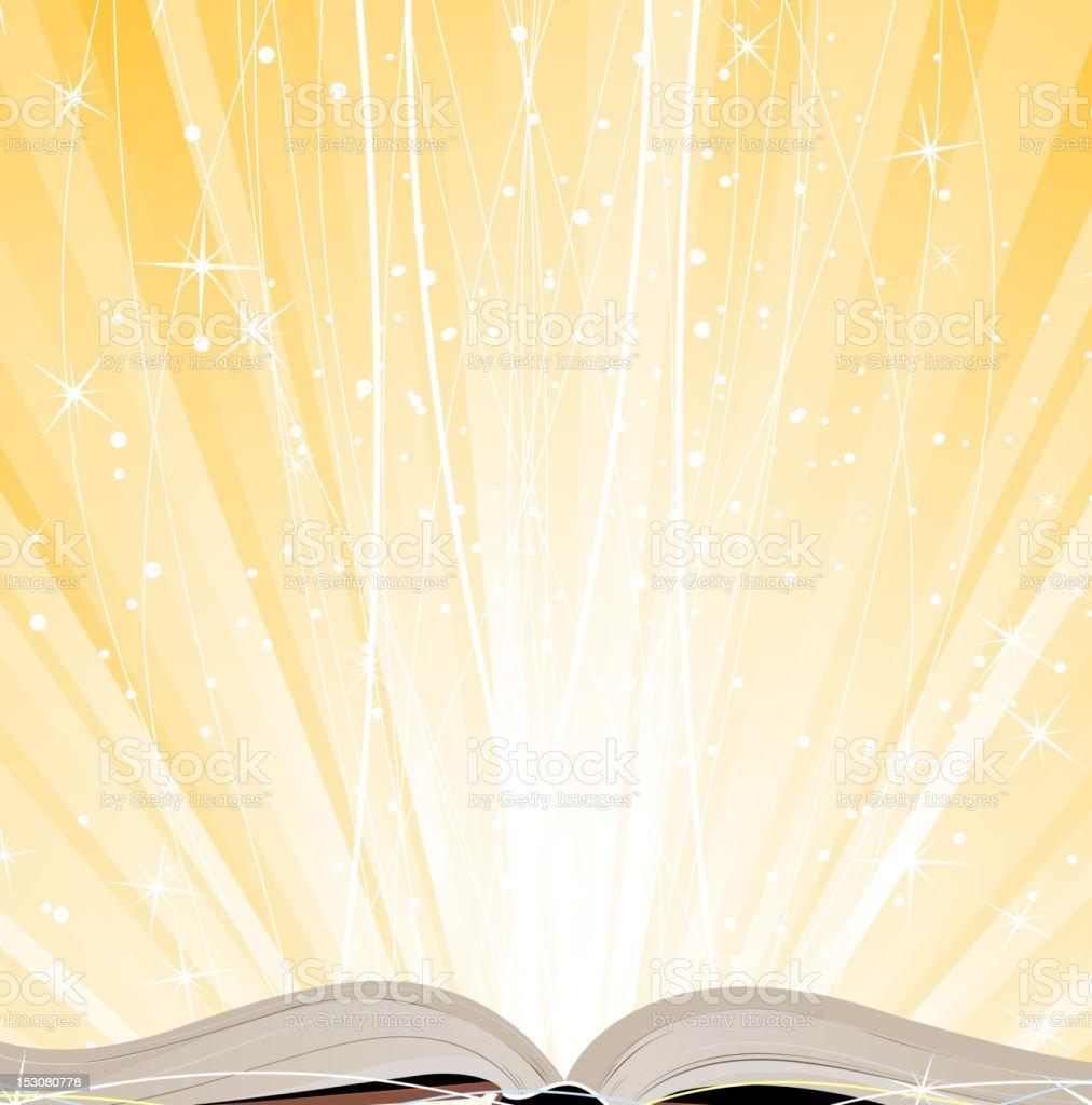 Glitzernde open Buch – Vektorgrafik