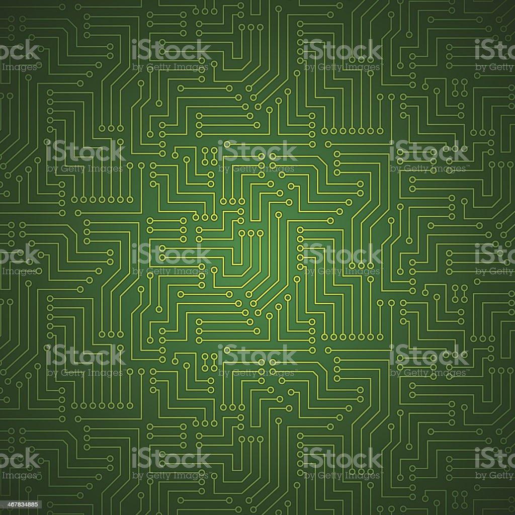 Circuito Impreso : Ilustración de brillante placa de circuito impreso y más banco de