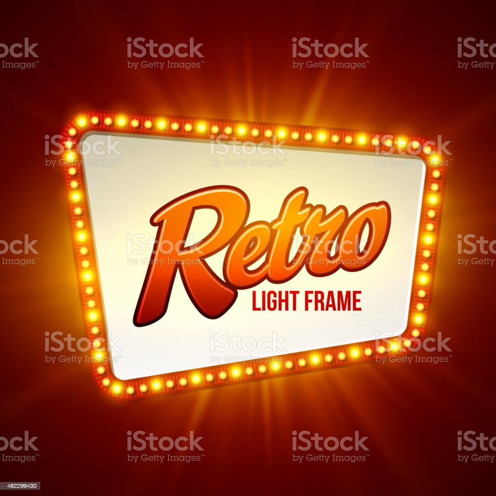 Shining retro light banner.  Vector illustration vector art illustration