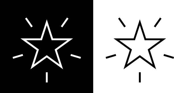 Shining Star Icon vector art illustration