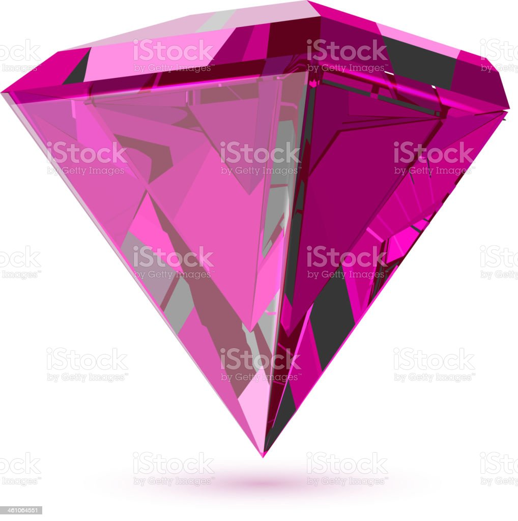 Shining transparent diamond isolated on white. royalty-free shining transparent diamond isolated on white stock vector art & more images of amethyst