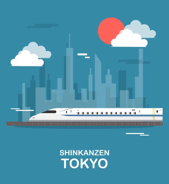 shinkanzen 空列車東京イラスト デザイン - 電車点のイラスト素材/クリップアート素材/マンガ素材/アイコン素材