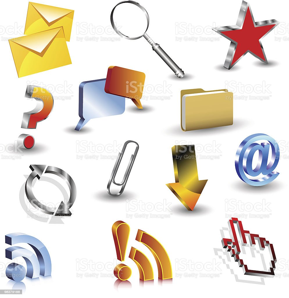 Shiny 3d icons royalty-free shiny 3d icons stock vector art & more images of abstract