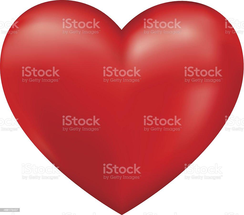 Shiny 3d vector heart vector art illustration