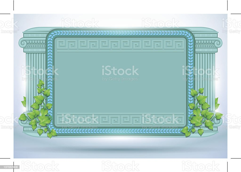 shiny antique frame vector art illustration