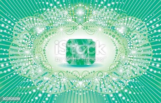 istock shiny background with Smaragd. 502303039