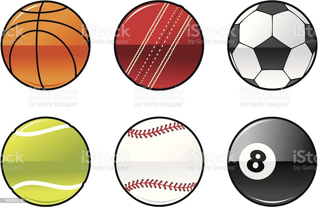 Shiny Balls vector art illustration
