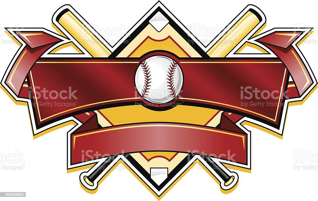 Shiny Baseball banner logo vector art illustration
