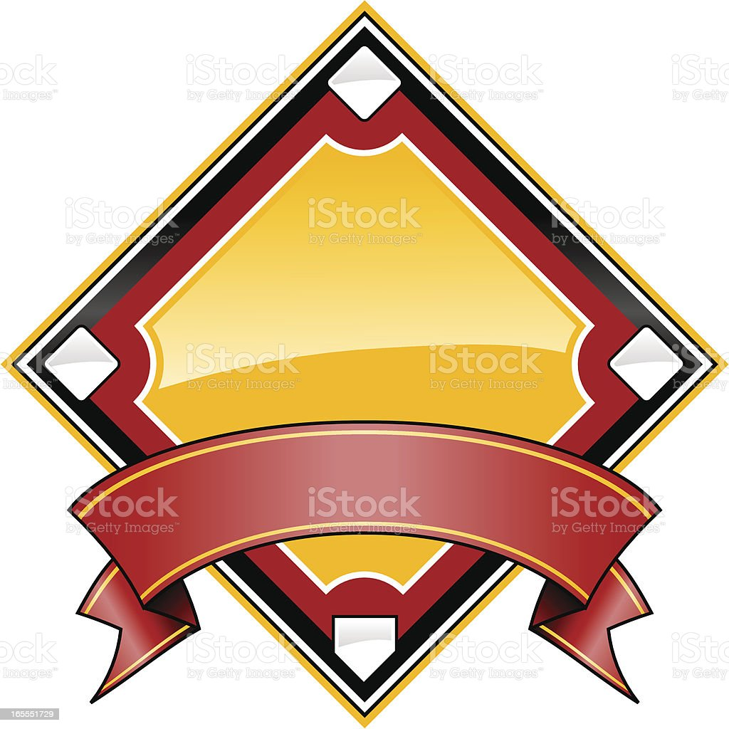 Shiny Baseball Diamond royalty-free shiny baseball diamond stock vector art & more images of base