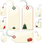 istock Shiny Beige Christmas or Winter Gift, Price Tags, Labels 481925053