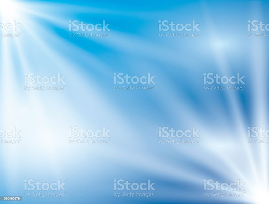 shiny blue background with bright lights - vector vector art illustration