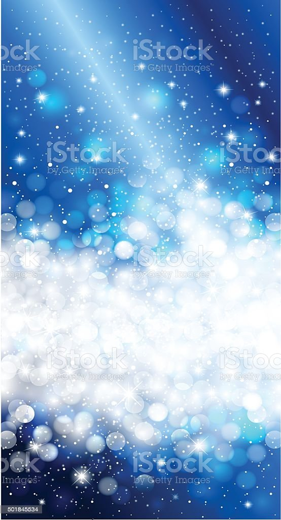 Shiny Blue Christmas Invitation Background Design Stock Vector Art