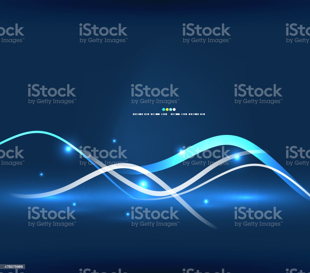 Shiny blue glowing lines background royalty-free stock vector art