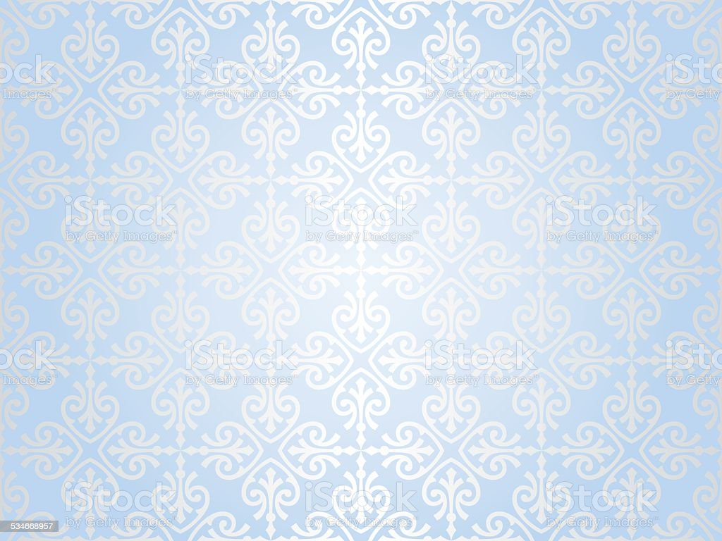 Shiny Blue Vintage Christmas Card Background Stock Vector
