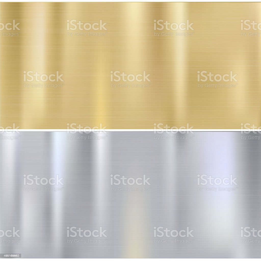 Shiny brushed metal vector art illustration