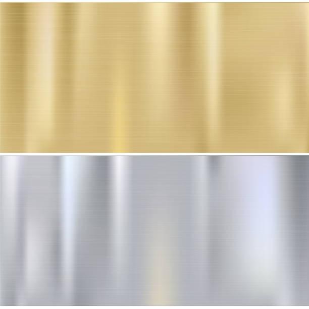 Shiny brushed metal向量藝術插圖