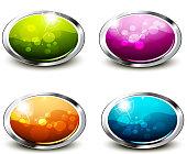 Shiny Buttons Set - Oblong