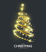 Drawn of vector bright Christmas tree sign. This files of transparent and created by illustrator CS6.
