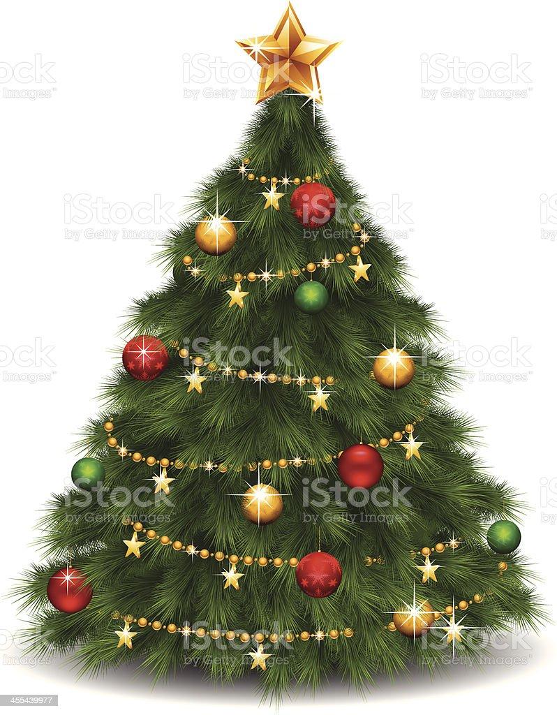 Shiny Christmas Tree royalty-free stock vector art