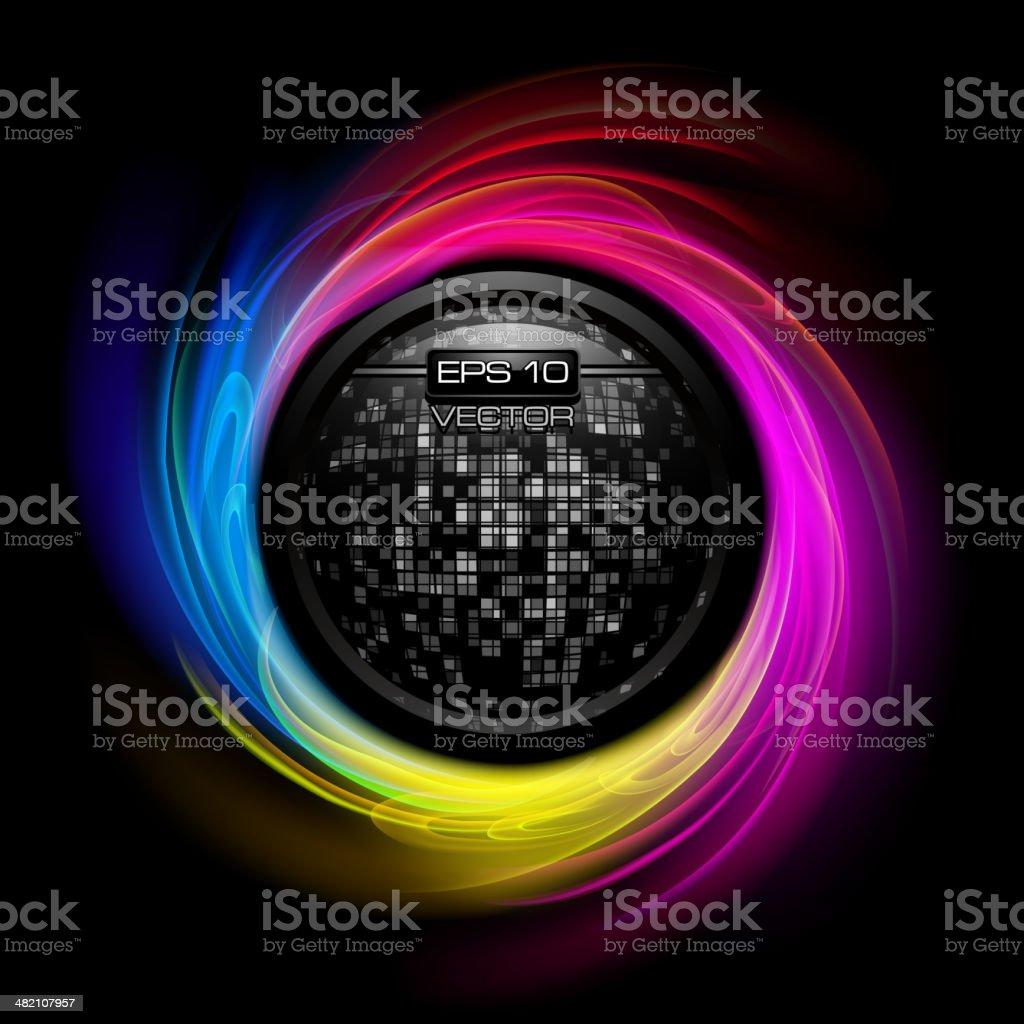 Shiny circles background vector art illustration