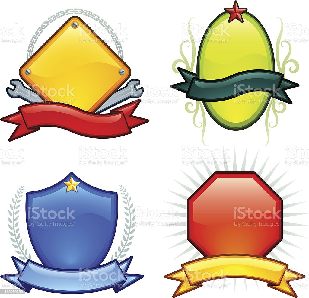 shiny crest (vector) royalty-free stock vector art