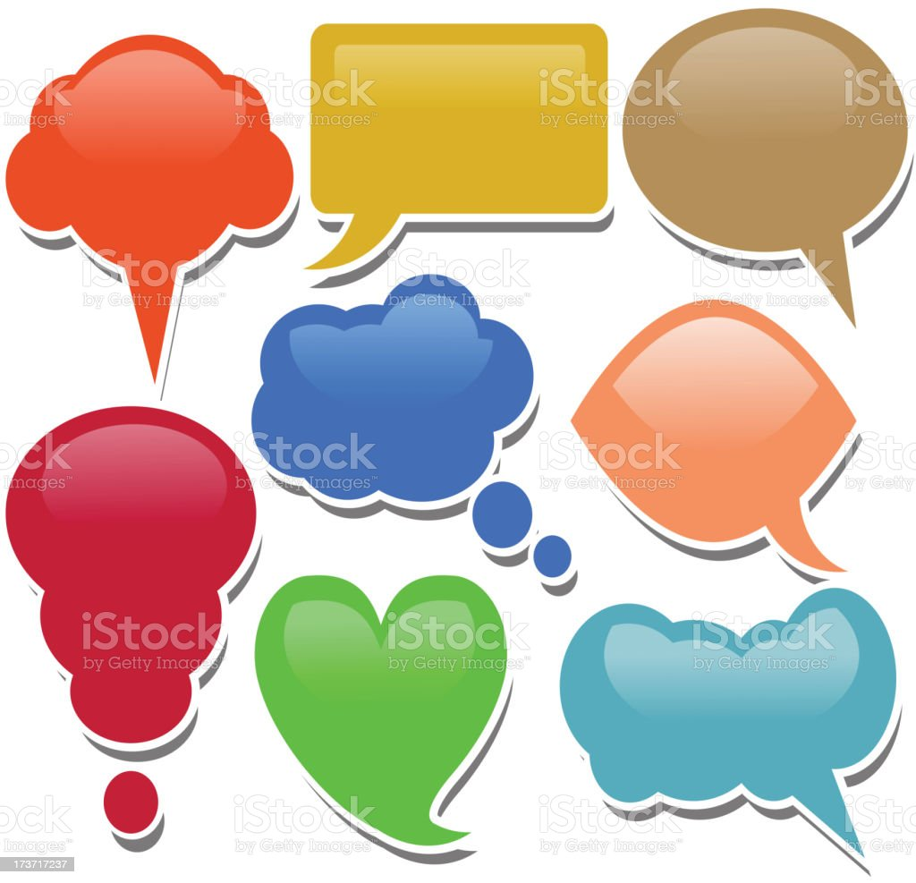 shiny dialogue bubbles royalty-free stock vector art