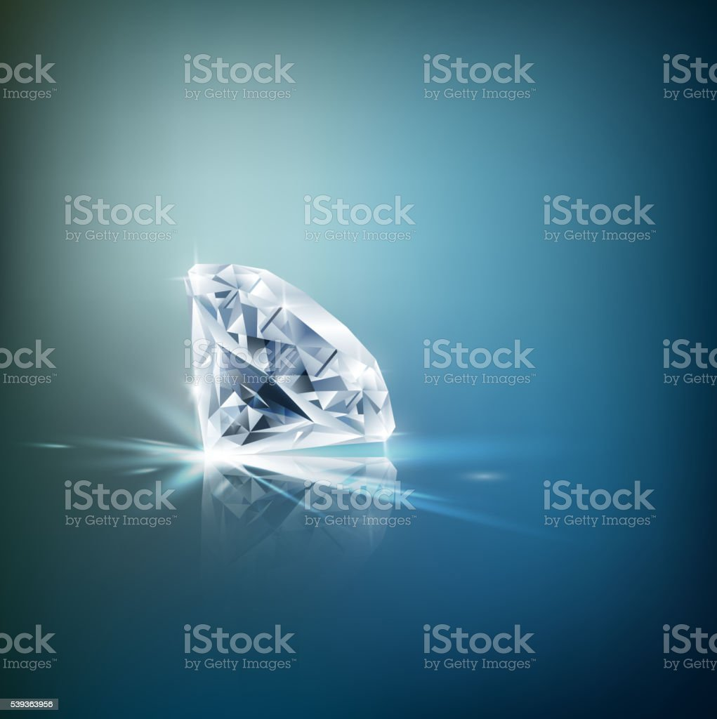 Shiny diamond background vector art illustration