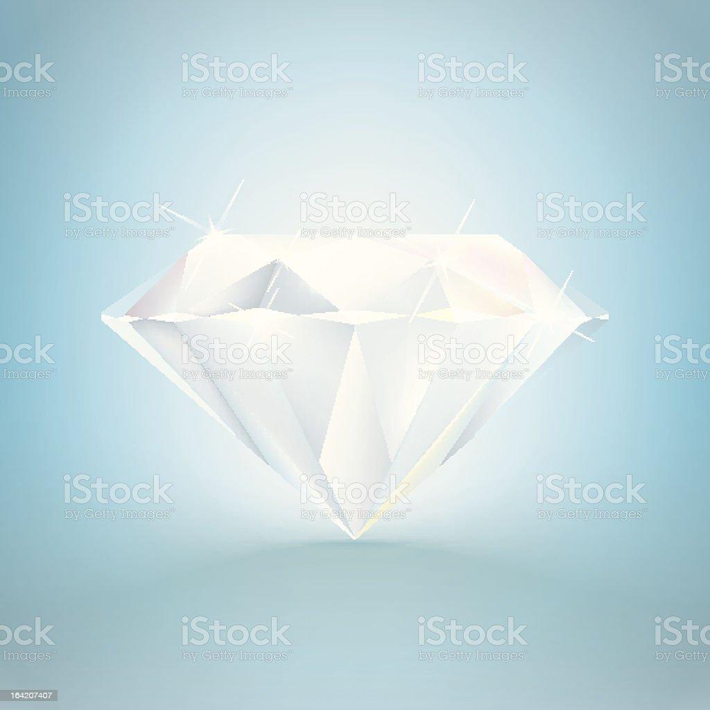 Shiny Diamond Jewel royalty-free shiny diamond jewel stock vector art & more images of blue