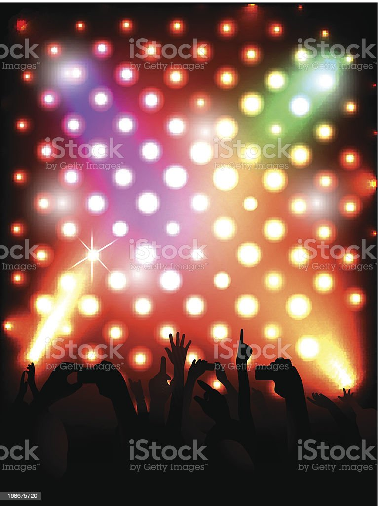 Shiny dots background of concert royalty-free stock vector art