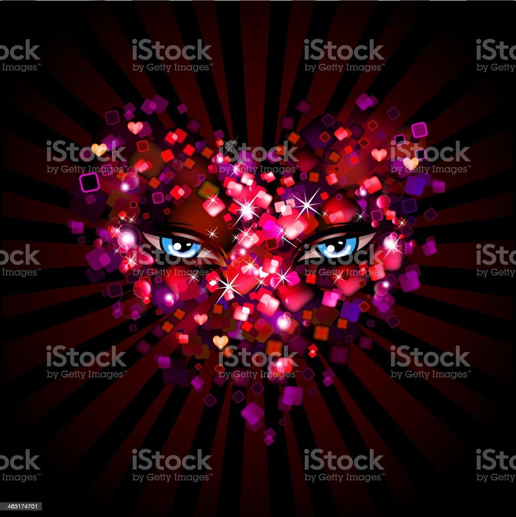 Shiny eye heart royalty-free stock vector art