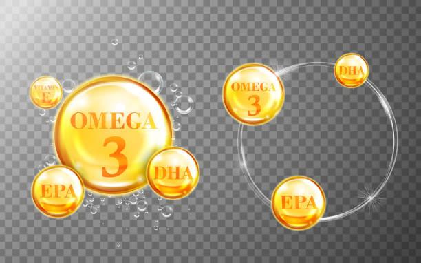 bildbanksillustrationer, clip art samt tecknat material och ikoner med shiny fish oil nutritions - omega 3