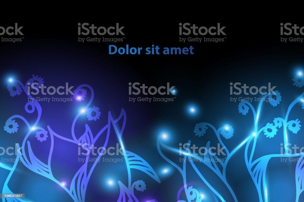Shiny floral background for your design vector art illustration