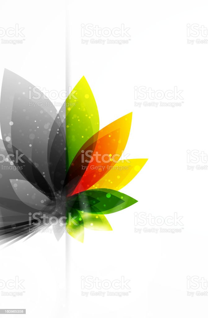 Shiny floral background royalty-free stock vector art