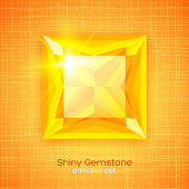 Shiny gemstone on textured background