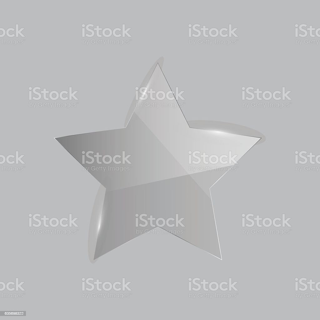Shiny Glass Star Illustration royalty-free shiny glass star illustration stock vector art & more images of abstract