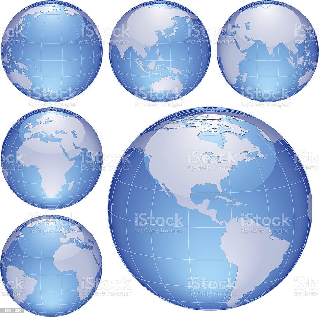 shiny globes - Royaltyfri Blå vektorgrafik