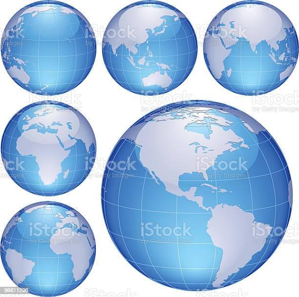 Shiny Globes-vektorgrafik och fler bilder på Blå