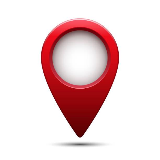 ilustraciones, imágenes clip art, dibujos animados e iconos de stock de puntero de mapa rojo brillante brillante. ilustración de vector. - íconos 3d