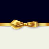 Shiny gold satin ribbon